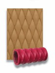 "Texture Roller Sleeve 4.25"" Diamond Design"