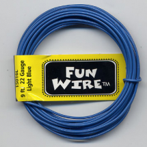 FUN WIRE 22 GAUGE LIGHT BLUE