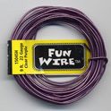FUN WIRE 18 GAUGE CLEAR PURPLE