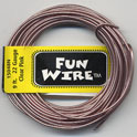 FUN WIRE 18 GAUGE CLEAR PINK