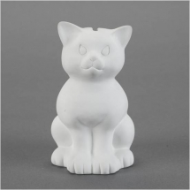 Bisque Sitting Kitty Bank 150x82x100mm