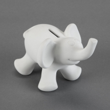 Bisque Cute Elephant Bank 6.1 x 4.6 x 4.3inch