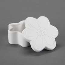 Bisque Flower Trinket Box 4.4 x 4.4 x 2.1inch