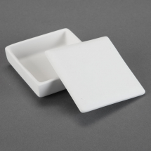 Bisque Medium Tile Box 4 x 4 x 1.5inch