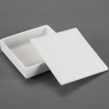 Bisque Large Tile Box 5 x 5 x 1.6inch