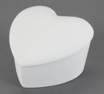 Bisque Slant Heart Box 5.1 x 5.0 x 3.0inch