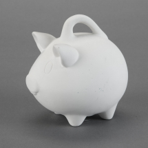 Bisque Piggy Bank 5.6 x 4.4 x 5.9inch