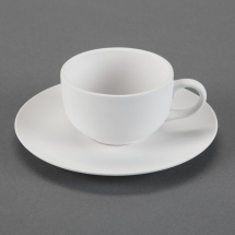 Bisque Tea Cup 5x3.7x2.3inch & Saucer 6.8x6.8x0.8inch