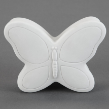 Bisque Butterfly Box - �5.8 x 4.3 x 2.5inch