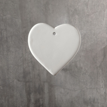 Bisque Heart Ornament 3.2 x 3.2 x 0.3inch
