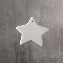 Bisque Star Ornament 3.5 x 3 x 0.3inch