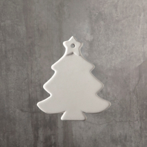 Bisque Christmas Tree Ornament 3.7 x 3.2 x 0.3inch