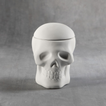 Bisque Skull Box 4.25 x 4.75 x 4.52inch