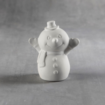 Bisque Tiny Tot Snowy The Snowman 3 x 2 x 3.5inch