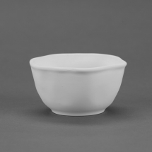 Bisque Wavy Ware Pottery Bowl 5.5 x 5.5 x 2.8inch