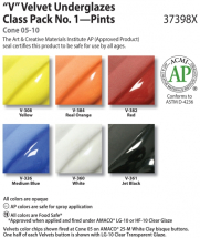 Amaco Velvet Class Pack No1 - 6 Colours - 16oz each