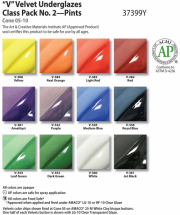 Amaco Velvet Class Pack No2 - 12 Colours - 16oz each