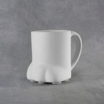 Bisque Paw Print Mug 14oz 100x140x114mm