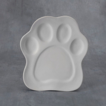 Bisque Paw Print Plate 9 x 11 x 1inch