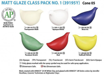 Amaco LM-Series Glaze Class Pack 1 - 6 Colours - 16oz each