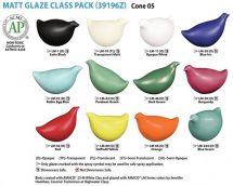 Amaco LM-Series Glaze Class Pack - 12 Colours - 16oz each