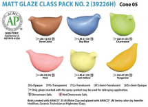 Amaco LM-Series Glaze Class Pack 2 - 6 Colours - 16oz each