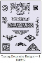 Art Emboss DECORATIVE DESIGNS Tracing Patterns