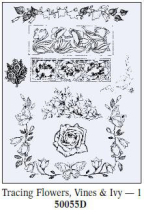 Art Emboss Flowers,Vines&Ivy 1 Tracing Patterns