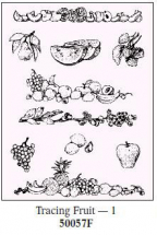 Art Emboss FRUIT Tracing Patterns