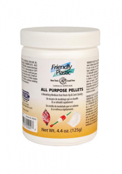 Friendly Plastic- IVORY PELLETS 4.4oz JAR (125g)