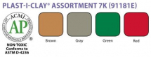 Amaco - Plasti-Clay - Assorted Colours #1