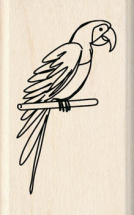 Wood Stamp-Animals & Birds-Parrot