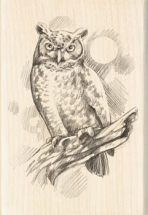Wood Stamp-Animals & Birds-Owl