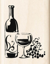 Wood Stamp-Birthday-Wine Party