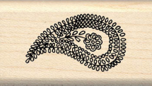 Wood Stamp- Spring Collection-Textile Paisley