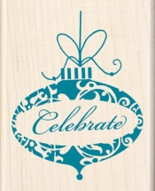 Wood Stamp-Christmas-Celebrate Ornament