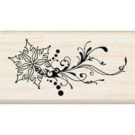 Wood Stamp-Christmas-Snowflake Flourish