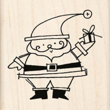 Wood Stamp-Christmas-Santa