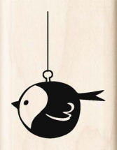 Wood Stamp-Christmas-Bird Ornament