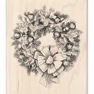 Wood Stamp-Christmas-Wreath