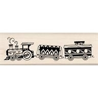 Wood Stamp-Christmas-Toy Train
