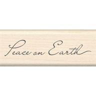 Wood Stamp-Christmas-Peace On Earth