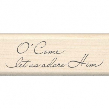 Wood Stamp-Christmas-Adore Him