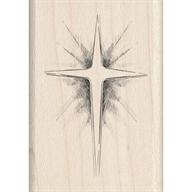 Wood Stamp-Christmas-Star