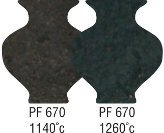 P1503 Professional Smooth Textured Black PF670 1080-1260°C
