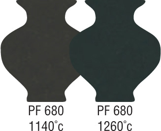 P1504 Professional Smooth Black Clay PF680 1140-1260°C