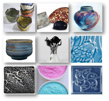 P2707 Potterycrafts TURQUOISE GREEN EFFECT Glaze