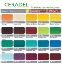 Limoges Range of Leaded Powders