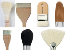 Hake Brushes & Glaze Mops
