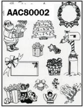 Clear Stamp-Stick N Stamp - Xmas